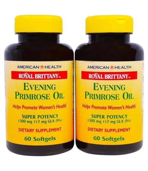 Масло вечернего первоцвета - Royal Brittany Evening Primrose Oil, 60 табл.