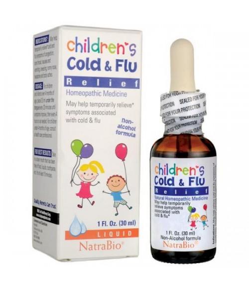 Средства для лечения простуды и гриппа - NatraBio Children's Cold & Flu Relief, 30 мл