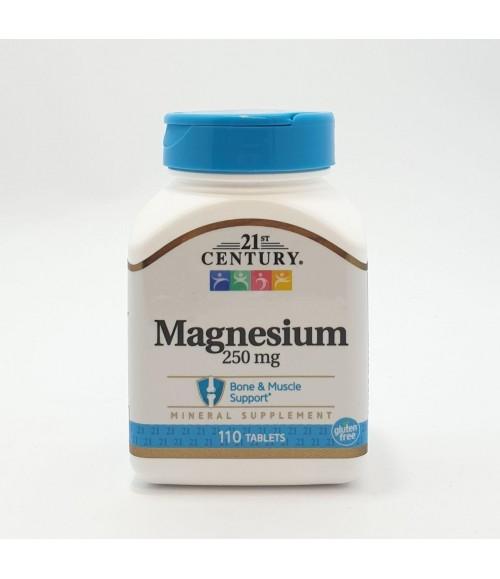 Магний - 21st Century Magnesium 110 таблеток, 250 мг