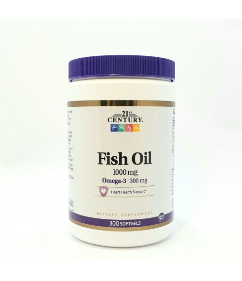 Рыбий жир в капсулах - 21st Century Fish Oil 1000 мг, 300 капсул