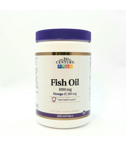 Рыбий жир в капсулах - 21st Century Fish Oil 1000 мг, 300 капсул
