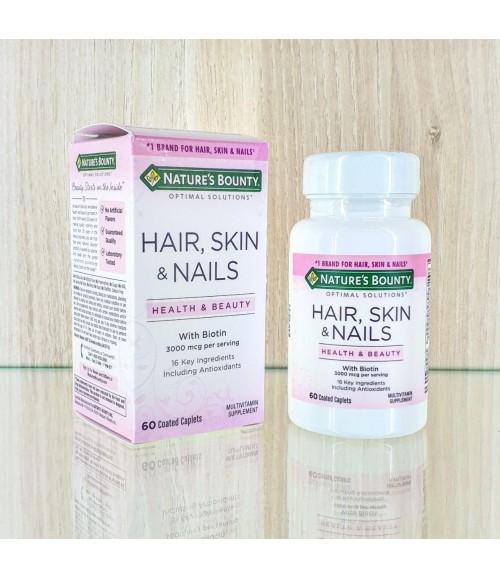 Витамины для волос, ногтей и кожи - Nature's Bounty Optimal Solutions Hair, Skin & Nails, 60 капсул