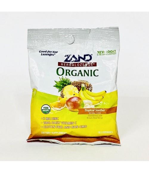 Органические таблетки - Zand Herbalozenge Organic Tropical Soother, 18 штук