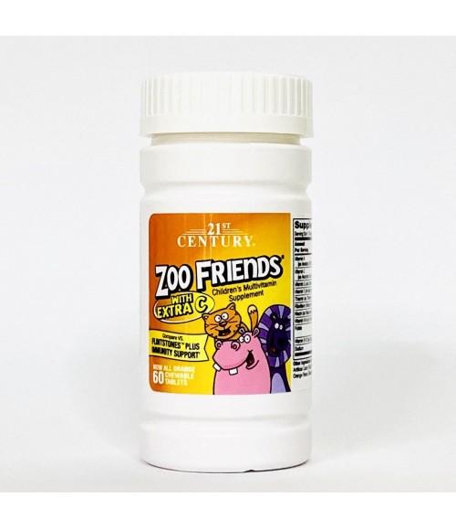 Мультивитамины для детей - 21st Century Zoo Friends Complete, 60 табл.