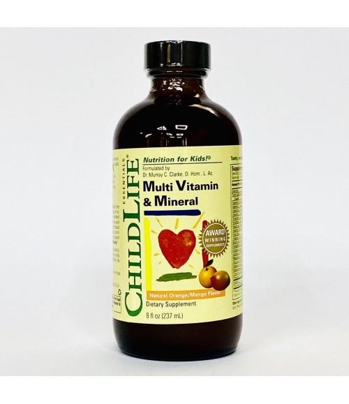 Мультивитамины для детей - ChildLife Essentials Multi Vitamin & Mineral, 237 мл