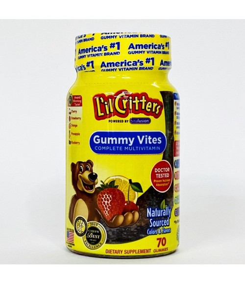 Мультивитамины для детей - L'il Critters Gummy Vites Complete Multivitamin, 70 жевательных мишек