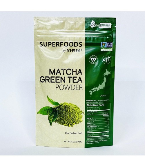 Матча - Superfoods by MRM Matcha Green Tea Powder, 170 г