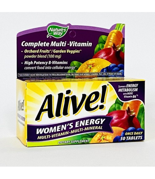 Мультивитамины для женщин -  Nature's Way, Alive Women's Energy Multivitamin-Multimineral, 50 таблеток