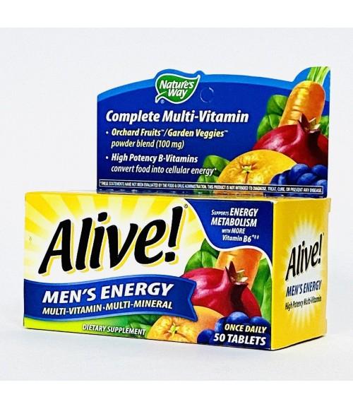 Мультивитамины для мужчин - Nature's Way, Alive Men's Energy Multivitamin-Multimineral, 50 Tablets