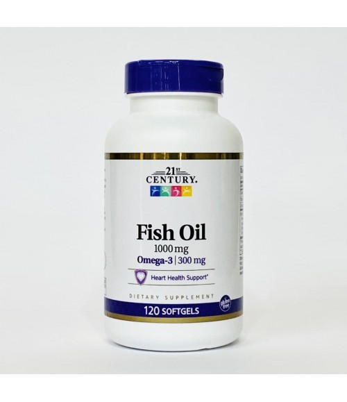 Омега-3 - 21st Century Fish Oil 1000 мг, 120 капсул