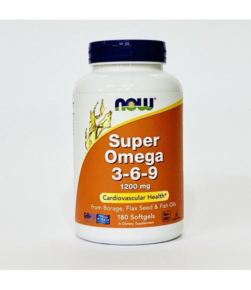 Супер Омега 3-6-9 - Now Foods Super Omega 3-6-9 1200 мг, 180 капсул