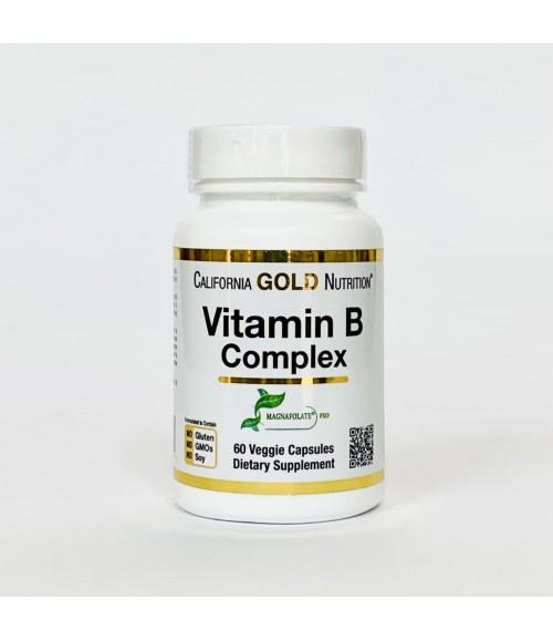 Витамины группы В - California Gold Nutrition Vitamin B Complex, 60 капсул