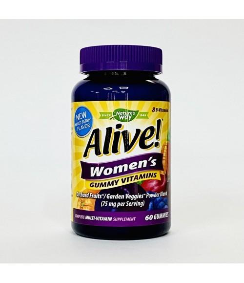 Комплекс мультивитаминов для женщин - Nature's Way Alive! Women's Gummy Vitamins, 60 жевательных таблеток