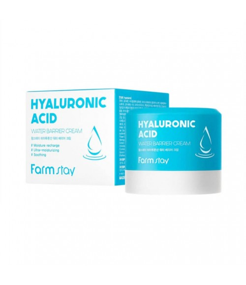 Крем для лица с гиалуроновой кислотой - FarmStay Hyaluronic Acid Water Barrier Cream, 80мл