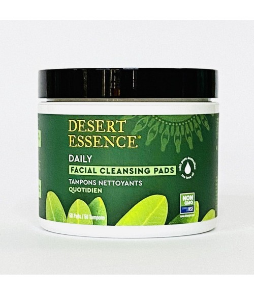 Пады для очистки лица - Desert Essence Daily Facial Cleansing Pads, 50 шт
