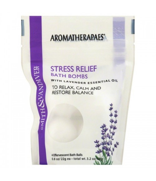 Бомбы для ванной - Aromatherapaes Stress Relief Bath Bombs, 4 шт