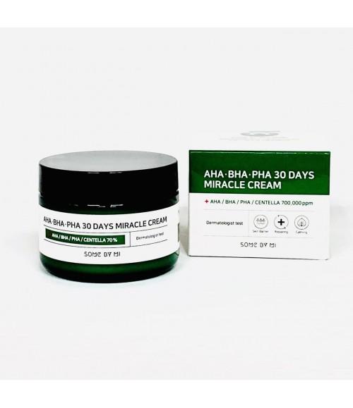 Крем для проблемной и жирной кожи с 3-мя видами кислот и экстрактом центеллы азиатской - Some By Mi AHA-BHA-PHA Miracle Cream, 50 мл