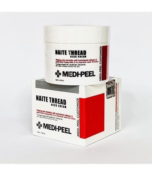 Подтягивающий крем для шеи с пептидным комплексом - Medi-Peel Naite Thread Neck Cream, 100 мл