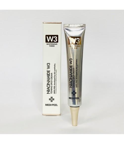 Точечный осветляющий крем с ниацинамидом против пигментации и несовершенств - Medi-Peel Niacinamide W3 Toning Spot Cream, 50 г
