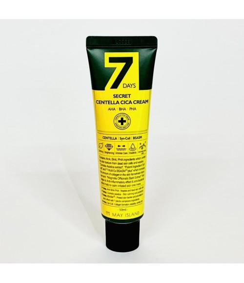 Восстанавливающий крем для проблемной кожи - 7 Days Secret Centella Cica Cream, 50 мл