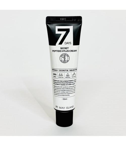 Антивозрастной крем для лица с пептидами - Мay Island 7 Days Secret Peptide 8 Plus Cream, 50 мл
