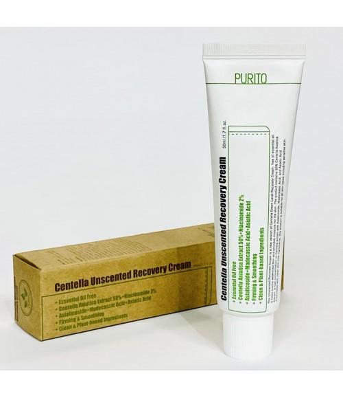 Крем для всех типов кожи в том числе чуствительной с центелой азиатской - Purito Centella Unscented Recovery Cream, 50 мл