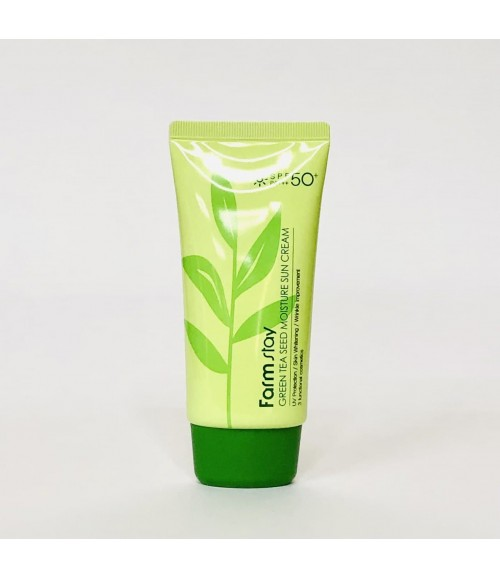 Увлажняющий солнцезащитный крем с семенами зеленого чая - FarmStay Green Tea Seed Moisture Sun Cream, 70г