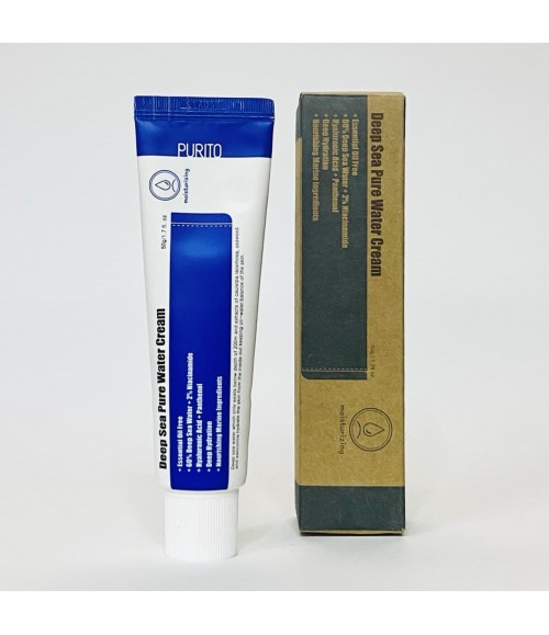 Увлажняющий крем с морской водой - Purito Deep Sea Pure Water Cream, 50 гр
