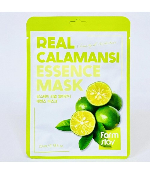 Тканевая маска - FarmStay Real Calamansi Essence Mask, 23 мл