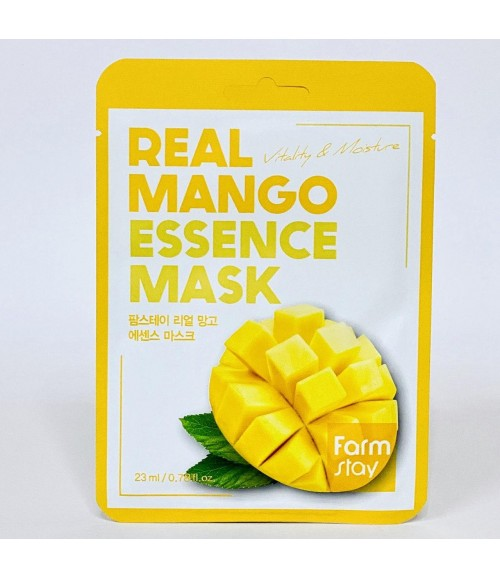 Тканевая маска для лица с экстрактом манго - FarmStay Real Mango Essence Mask, 23 мл