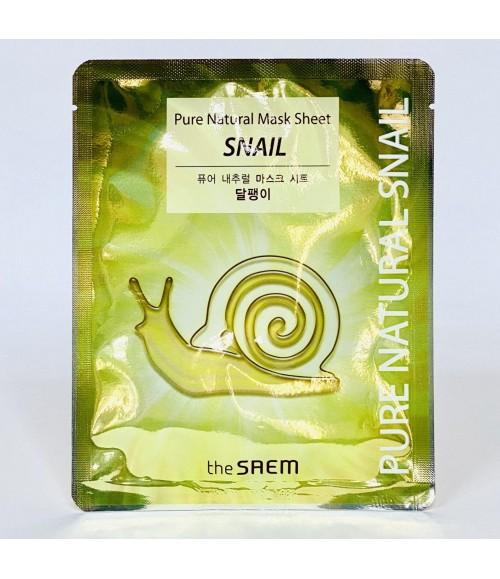 Тканевая маска - The Saem Pure Natural Mask Sheet Snail