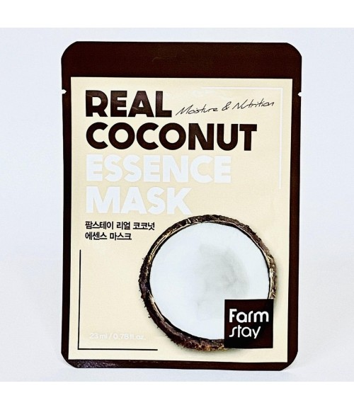 Тканевая маска с экстрактом кокоса - Farm Stay Real Coconut Essence Mask