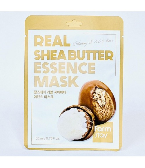 Тканевая маска с маслом ши - FarmStay Real Shea Butter Essence Mask