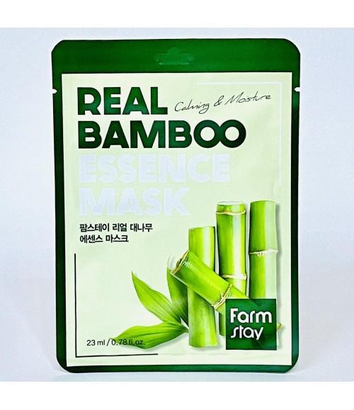 Тканевая маска с экстрактом бамбука - FarmStay Real Bamboo Essence Mask