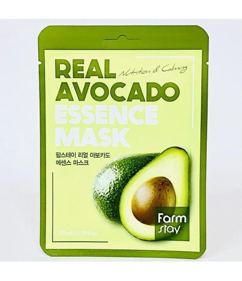 Тканевая маска с экстрактом авокадо - Farm Stay Real Avocado Essence Mask