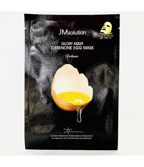 Яичная тканевая маска - JMsolution Glory Aqua Idebenone Egg Mask