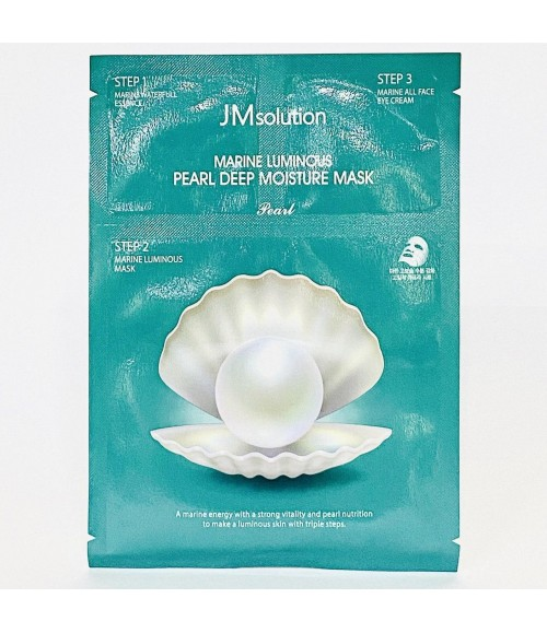 Тканевая маска увлажняющая восстанавливающая - JM Solution Marine Luminous Pearl Deep Moisture Mask Pearl