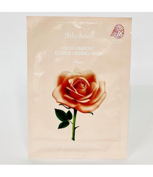 Тканевая маска с экстрактом дамасской розы - JMsolution Glow Flower Firming Mask Rose
