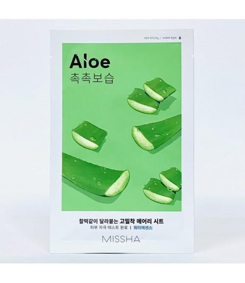 Тканевая маска для лица с алоэ - Missha Missha Airy Fit Aloe Sheet Mask, 19 мл