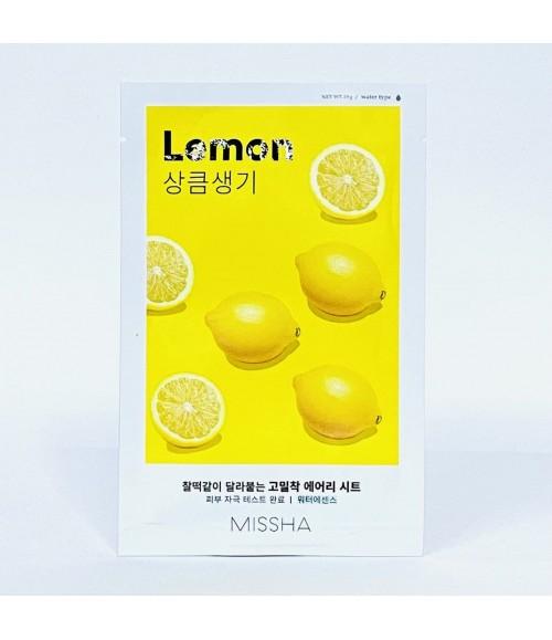 Тканевая маска с экстрактом лимона - Missha Airy Fit Sheet Mask Lemon, 19 гра