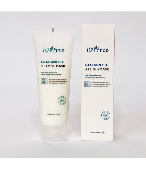 Ночная маска для очищения пор, устранения воспалений и покраснений - Isntree Clear Skin PHA Sleeping Mask, 100 мл