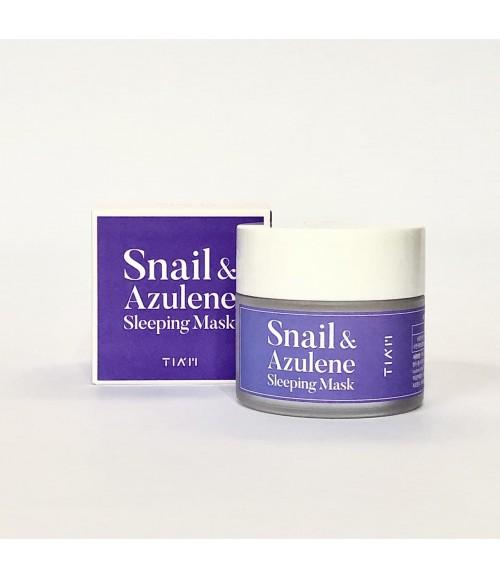 Ночная маска с экстрактом улитки и азуленом - Tiam Snail & Azulene Sleeping Mask, 80 мл