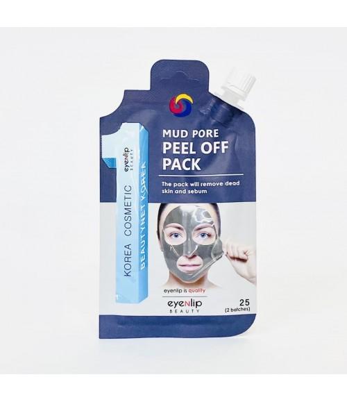 Очищающая маска-пленка с морской грязью для лица - Eyenlip Mud Pore Peel Off Pack, 25 гр