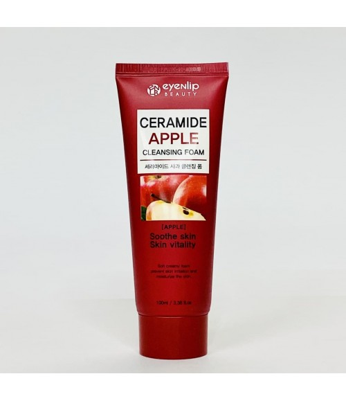 Пенка с керамидами и экстрактом яблока - Eyenlip Ceramide Apple Cleansing Foam, 100 мл