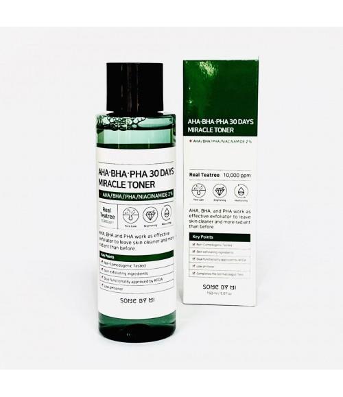 Очищающий тонер для проблемной кожи - Some By Mi AHA BHA PHA 30 Days Miracle Toner, 150 мл