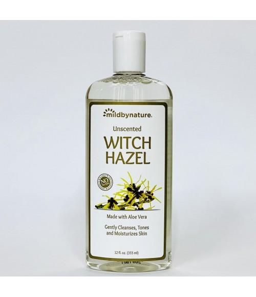 Увлажняющий тонер с экстрактом гамамелиса - Mildbynature Unscented Witch Hazel, 355 мл