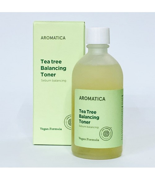 Балансуючий тонер з чайного дерева - Aromatica Tea Tree Balancing Toner Vegan Formula, 130 мл