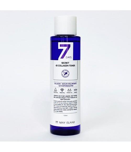 Тонер с коллагеном - May Island 7 Days Secret 4D Collagen, 155 мл
