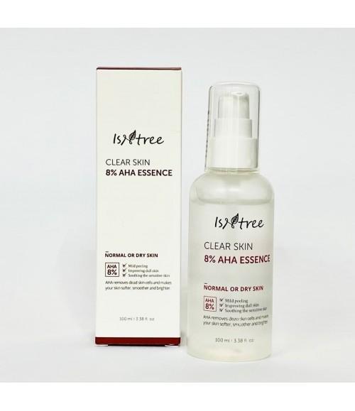 Эссенция с АНА кислотами для нормальной и сухой кожи - Isntree Clear Skin 8% AHA Essence, 100мл