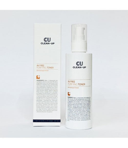 Мягкий очищаючий тонер для проблемной кожи - CUSKIN Clean-Up AV Free Purifying Toner, 180 мл